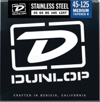 Dunlop DBS Stainless Steel Bass Medium 5 Tapered 45-125T
