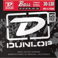 Dunlop DBS Stainless Steel Bass Medium 6 30-130