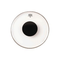 Remo CS-0312-10 Controlled Sound Clear Black Dot On Top 12''