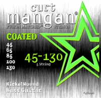 Curt Mangan Nickel Wound Bass 5-String Coated Set 45-130