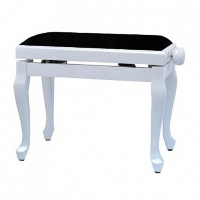 GEWA Piano Bench Deluxe Classic White Matt