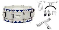 GEWA Marching Small Drum Steel Chrome HW BH 14x5.5""