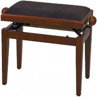 GEWA FX Piano Bench Deluxe Cherry Tree Matt Brown Seat