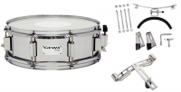 GEWA Marching Small Drum Steel Chrome HW SH 14x5.5""