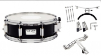 GEWA Marching Small Drum Birch Black Chrome 13x5.5""