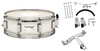 GEWA Marching Small Drum Birch White Chrome 14x5.5""