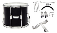 GEWA Marching Parade Drum Birch Black Chrome 14x12""