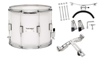 GEWA Marching Parade Drum Birch White Chrome 14x12""