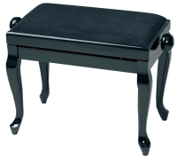GEWA Piano Bench Deluxe Classic Black High Gloss