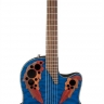 Ovation CE44P-8TQ Celebrity Elite Plus Mid Cutaway Trans Blue Quilt Maple