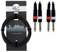 Alpha Audio Basic Line Audio Cable 2 моноджек 6.3 мм - 2 RCA 1.5 м