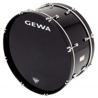 "GEWA Marching Bass Drum 26x12"" Black"