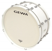 "GEWA Marching Bass Drum 24x10"" White"