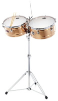 Latin Percussion LP1314-BZ Timbales Prestige Solid Bronze