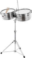 Latin Percussion LP1314-S Timbales Prestige Solid Stainless Steel