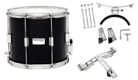GEWA Marching Parade Drum Birch Black Chrome 14x10""
