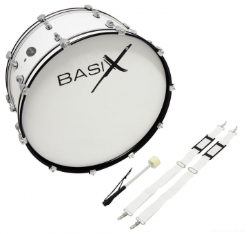 "Basix Marching Bass Drum 24x12"" -"
