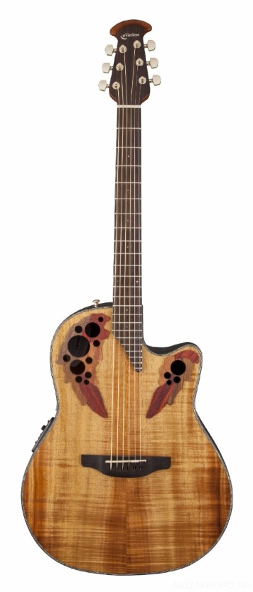 Ovation CE44P-FKOA Celebrity Elite Plus Mid Cutaway Natural Figured Koa -