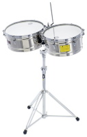 Latin Percussion LP1415-S Timbales Prestige Solid Stainless Steel